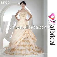 RSW301 Sequin Rüschen Taft Tüll Brautkleid