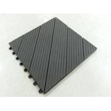 Interlocking Outdoor Deck Tiles Park Veranda Utilice Solid Teak Wood Tiles con Base de plástico