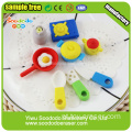 tableware Puzzle Eraser,toy school Stationery