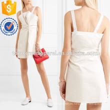 Mini vestido de algodón con encaje en la fabricación de vestidos de moda al por mayor de prendas de vestir de mujeres (TA4088D)