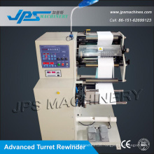 Self-Adhesive Blank Label and Barcode Label Slitter with Turret Rewinder