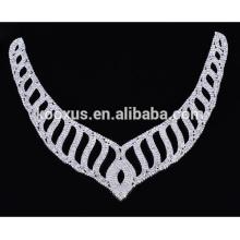 Art und Weisekristallrhinestoneapplique patche Halskette für Hochzeitskleid