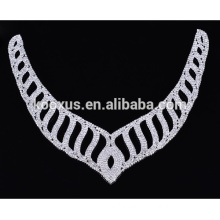 Fashion crystal rhinestone applique patche necklace for wedding dress