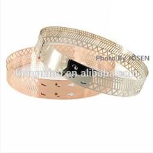 gridding hollow whole metal paillette belt lady's decoration belt Fashionable T stage primark fashion show