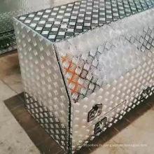 Coffre à outils en aluminium pour remorques UTE et Camper Coffre à outils en aluminium à plaque de contrôle pour camion avec tiroirs