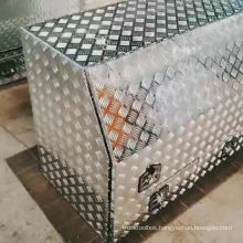 Aluminum check plate truck tool box with drawers Aluminum check plate truck tool box with drawers