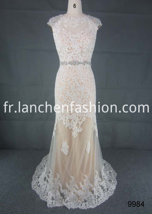Beading Long Bridesmaid Dress