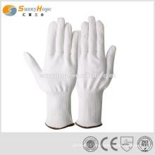 Белые перчатки для пищевой промышленности HPPE