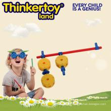 Eco-Friendly crianças plástico bloco de construção Puzzle Gun Brinquedos