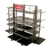 Free Design Large Wheeled Bekleidungsgeschäft Powder Coated Retail Store Kleidung Display-Vorrichtungen