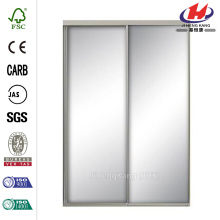 Mirror Satin Gold Aluminum Interior Sliding Door