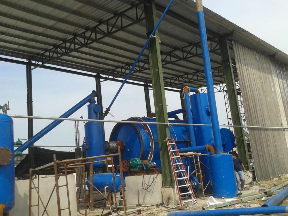 free+installation+waste+tires+pyrolysis+to+oil+equipment