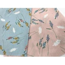 Tissu imprimé de toile de coton de style de couleur unie