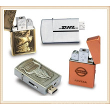 Gold Silver Lighter USB Flash Drive for Man (EM030)