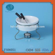 Набор для фондю горячего сбывания миниый, fondue круглой керамической fondue с стойкой утюга