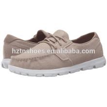 Дешевые Оптовая Холст обувь 2016 Мода дамы Lace-up Повседневная плоская обувь