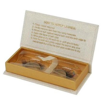 OEM Desain Magnetic Penutupan Glossy Eyelash Packaging Box