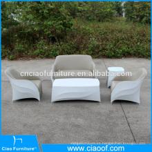 Impermeable exterior de cuero de la PU y juego de sofá de tela de mezcla