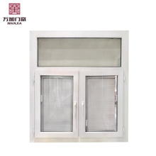 Upvc/pvc plastic double glass for louver shutter casement window