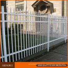 Valla de seguridad de acero industrial valla de jardín de acero galvanizado