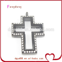 Stainless steel cross locket pendant wholesale