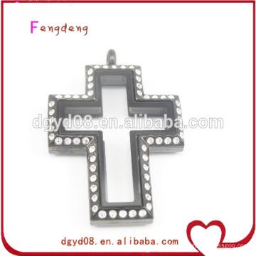 En acier inoxydable Croix pendentif médaillon en gros