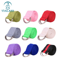 yugland free sample colorful oem custom cotton organic stretching yoga strap