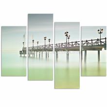 España Andalucía Marbella Paisaje Wall Art / Calmness Beach Impresión de lienzo / Modern Seascape Lienzo Envio