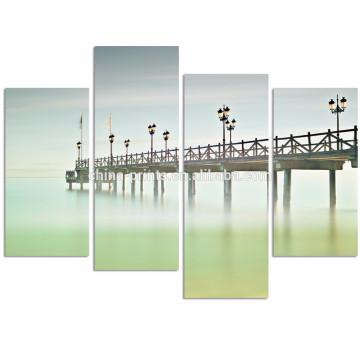Espagne Andalousie Paysage de paysage de Marbella Art / Calmness Beach Canvas Print / Modern Seascape Canvas Wall Art