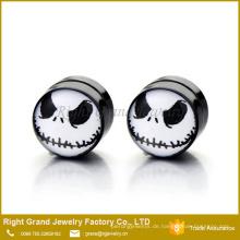 Fabrik Preis Angepasst Mode Acryl Schwarz Magnetische Gefälschte Ohrringe Für Unisex