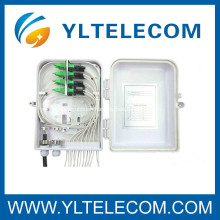 Wall Mounted Fiber Optic ODF Assembly With Fiber Patch Cords and Fiber Adapter