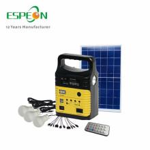 Sistema do gerador solar do sistema de luz solar 10W para a carga do telefone