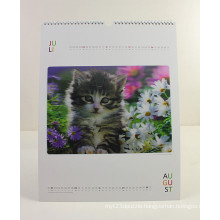 2015 Newest A3 Wall Calendar Design with Cats