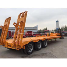 3 axle 60 tons low bed trailer
