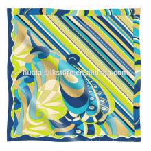 Lenço de seda de seda personalizado projeto original