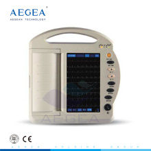 АГ-BZ009 Китая дешево 12 ведущий канала система записи с батареей сенсорный экран цифровой портативный электрокардиограф цена