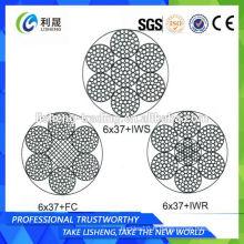 6x37 + FC 6x37 + IWS 6x37 + IWR Cordon à fil galvanisé non rotatif