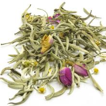 Chá branco da agulha nova da prata do chá da mistura, rosa e chá de camomila