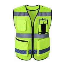 High Quality Custom Multi Pockets Oxford Clothing  Hi Vis Reflective Safety Vest