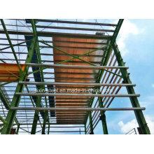 Construction en acier pour la construction d'entrepôts d'acier avec la pulvérisation galvnaisée