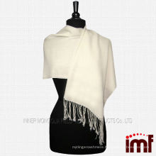 100% Wool Pashmina Off White Lady's Shawl Scarf