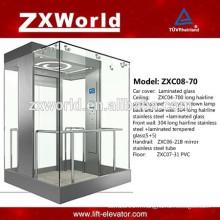 ZXC08-70 Plein verre Panoramique Tourisme Passager Ascenseur