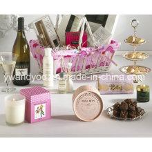 Vela de soja perfumada decorativa em vidro com caixa de presente