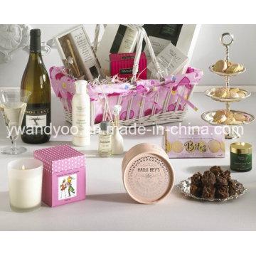 Dekorative Duftkerze im Glas mit Geschenkbox