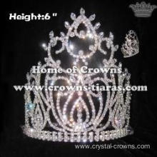 Luxury Clear Diamond National Pageant Queen Crowns