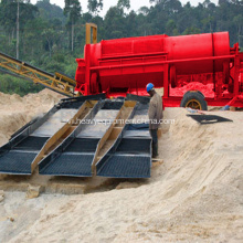 Placer Gold Ore rửa Rotary Trommel