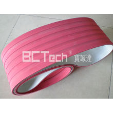 PVC conveyor belt with groove rubber