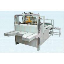 Semi Automatic Carton Folding And Gluing Machine , High-speed Vacuum Adsorption