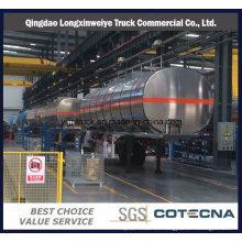 3 Axles 40m3 Aluminum Truck Semi Tanker Trailer en venta