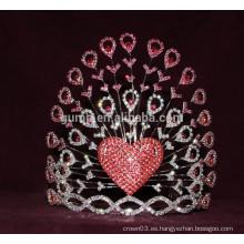 Corazón corona de diamantes de imitación